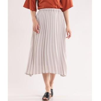 CLEAR IMPRESSION サテンプリーツスカート