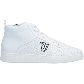 《セール開催中》TRUSSARDI JEANS メンズ スニーカー&テニスシューズ(ハイカット) ホワイト 45 紡績繊維