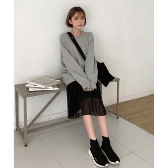 その他スカート - NOWiSTYLE CHUU(チュー)プリーツロングスカート韓国 韓国ファッション スカート プリーツスカート ボトムス プリーツ シースルーロングスカート ロング丈レディース ファッション