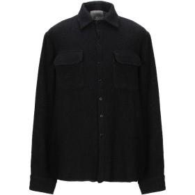 《期間限定 セール開催中》LANEUS メンズ シャツ ブラック 50 カシミヤ 79% / ナイロン 15% / シルク 6%