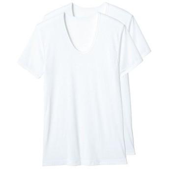 【メンズ】 吸汗・速乾 半袖U首(2枚組) - セシール ■カラー:ホワイト ■サイズ:3L,S,M,L,LL,5L