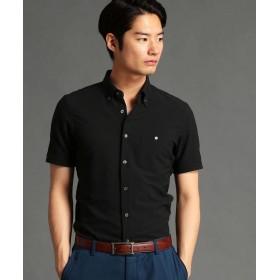 【30%OFF】 ムッシュニコル シアサッカー素材ボタンダウンシャツ メンズ 49ブラック 50(LL) 【MONSIEUR NICOLE】 【セール開催中】