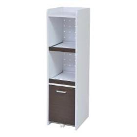 スリムラック 食器棚 すき間収納 高さ120cm ダークブラウン