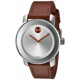 【当店1年保証】モバードMovado Women's Swiss Quartz Stainless Steel and Leather Watch, Color: Brow