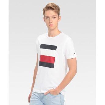 トミーヒルフィガー TOMMY HILFIGER シグネチャーカラーブロックTシャツ (ホワイト)