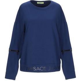 《セール開催中》VERSACE JEANS レディース スウェットシャツ ブルー XXS コットン 100%