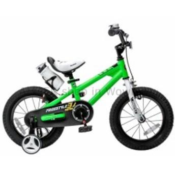 BMX グリーンTIG溶接スチールフリースタイルBMXキッズバイク(12インチトレーニングホイール付)  Green TIG We
