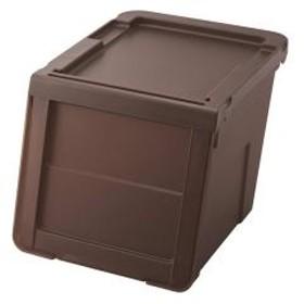 収納ボックス 前開き KABAKO 幅30×奥行42×高さ31cm カバコ スリム M クリアブラウン