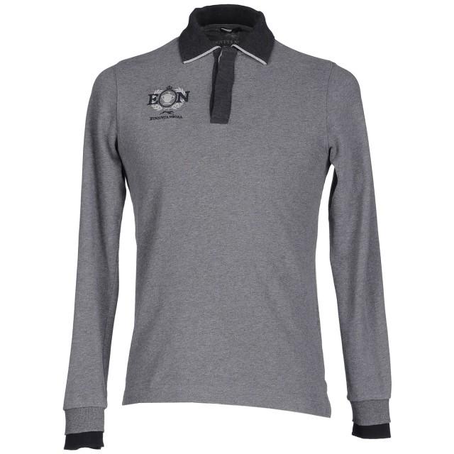 《期間限定セール開催中!》ETIQUETA NEGRA メンズ ポロシャツ グレー S コットン 100%