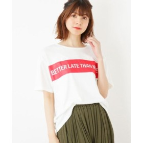 (SHOO・LA・RUE/シューラルー)BOXラインロゴTシャツ/レディース オフホワイト(003)