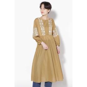 【30%OFF】 ローズバッド Cotton Voile Embroidery Back Ribbon Dress レディース BEIGE 【ROSE BUD】 【セール開催中】