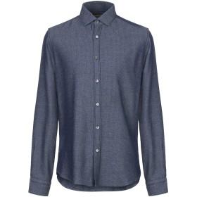 《期間限定セール開催中!》BORSA メンズ シャツ ダークブルー 40 コットン 100%
