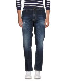 《期間限定 セール開催中》JEANSENG メンズ ジーンズ ブルー 36 コットン 98% / ポリウレタン 2% / 革