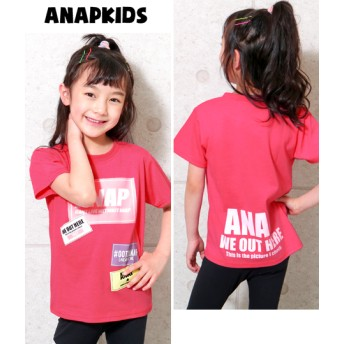 ANAP KIDS アナップキッズ ステッカー風プリントTシャツ