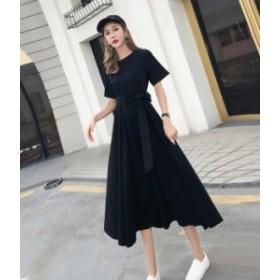 ロングワンピース 黒 ブラック aライン シンプル 大人 秋物 冬物 最新 レディース ファッション 4月新商品 人気 可愛い 大人