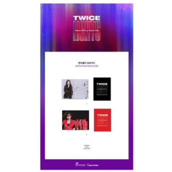 TWICE 公式グッズ TWICE WORLD TOUR 2019 TWICELIGHTS IN SEOUL フォトカード