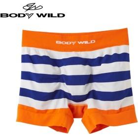 GUNZE グンゼ BODY WILD(ボディワイルド) ボクサーパンツ(前とじ)(メンズ)【SALE】 オレンジ M