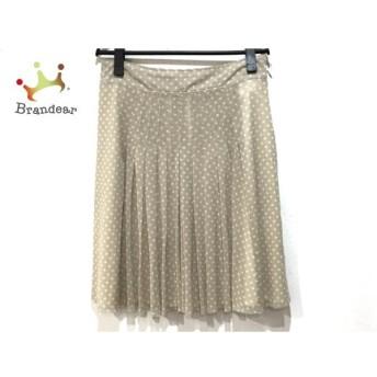 ダーマコレクション ミニスカート サイズウエスト67 レディース 美品 ベージュ×アイボリー スペシャル特価 20190821