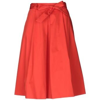 《セール開催中》BOUTIQUE MOSCHINO レディース 7分丈スカート レッド 40 コットン 96% / 指定外繊維 4%