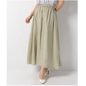 Te chichi Lugnoncure ヴィンテージサテンスカート(オリーブ)【返品不可商品】