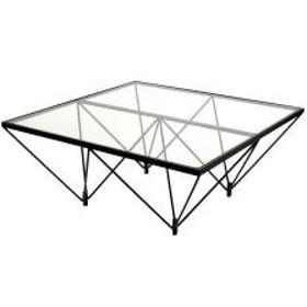 15%OFFクーポン対象商品 ガラステーブル ロータイプ 80cm角型 クーポンコード:CKJNNWW