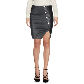 《セール開催中》RTA レディース ひざ丈スカート ブラック 2 羊革(ラムスキン) 100%