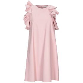 《送料無料》DROMe レディース ミニワンピース&ドレス ピンク S 羊革(ラムスキン)