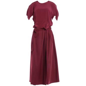 《セール開催中》ROBERTA FURLANETTO レディース 7分丈ワンピース・ドレス ガーネット 38 ウール 100%