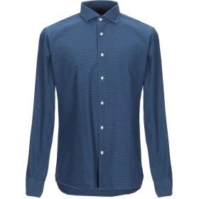 《期間限定 セール開催中》XACUS メンズ シャツ ダークブルー 39 コットン 100%