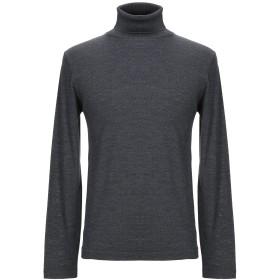 《セール開催中》DANIELE FIESOLI メンズ タートルネック 鉛色 S ウール 70% / シルク 30%