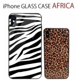 iPhoneXS iPhoneXR iPhone8 iPhoneX アニマル柄 ガラスケース ゼブラ レオパード iPhone 6s iPhone 6