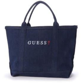 ゲス GUESS MEDIUM DENIM TOTE BAG【JAPAN EXCLUSIVE ITEM】 (DARK BLUE)
