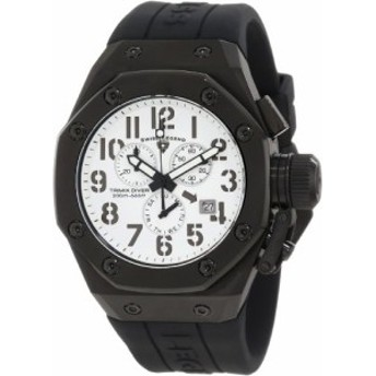 【当店1年保証】スイスレジェンドSwiss Legend Men's 10541-BB-02 Trimix Diver Chronograph White