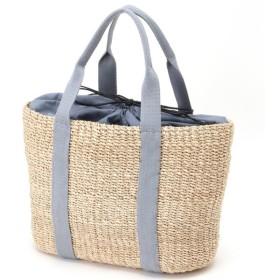 バッグ カバン 鞄 かごバッグ アバカキャンバストートかごバック カラー 「ナチュラル/グレー」