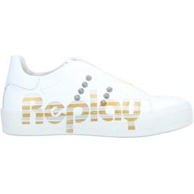 《期間限定 セール開催中》REPLAY レディース スニーカー&テニスシューズ(ローカット) ホワイト 38 革