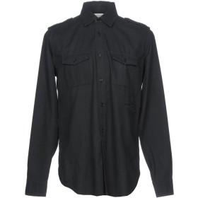 《セール開催中》SAINT LAURENT メンズ シャツ ブラック M 100% コットン