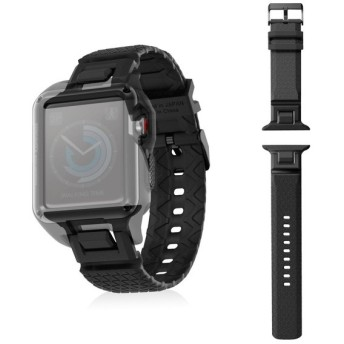 ELECOM AW-42BDZEROBK Apple Watch 42mm ZEROSHOCKバンド ブラック その他アクセサリ (スマートフォン・iPhone)