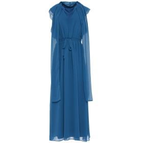 《セール開催中》MARELLA レディース ロングワンピース&ドレス ブルー 40 ポリエステル 100%