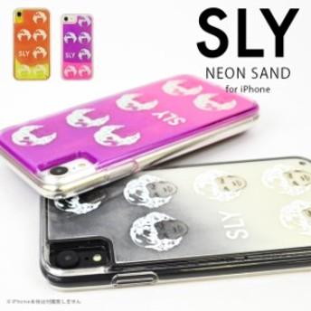SLY 「ネオンサンド(FACE)」 iPhone8 iPhone7 iPhone6s iPhone6 iPhoneXR スライ 背面ケース ブランド アイフォン ケース iphone