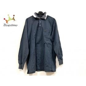 マンシングウェア Munsingwear 長袖ポロシャツ サイズLB メンズ ダークグレー×白   スペシャル特価 20190826