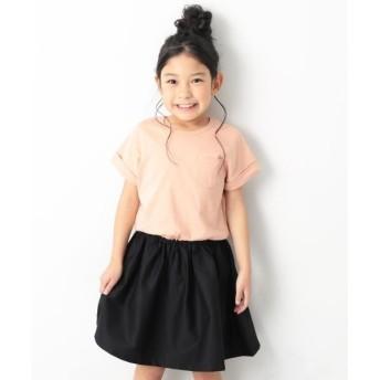 [マルイ] 子供服 ワンピース キッズ 韓国子供服 半袖 ドッキング ワンピース 女の子 100-160/デビロック(devirock)