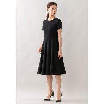 EPOCA エアーフラノ ドレス ワンピース,ブラック