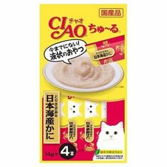 いなば CIAO(チャオ) ちゅ~る とりささみ&日本海産かに 14g×4本【ちゅーる】