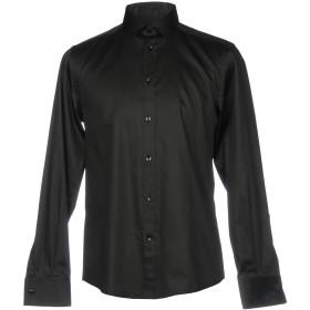 《期間限定セール開催中!》VERSACE COLLECTION メンズ シャツ ブラック 44 コットン 97% / ポリウレタン 3%