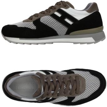 《セール開催中》HOGAN REBEL メンズ スニーカー&テニスシューズ(ローカット) ブラック 5 革 / 紡績繊維