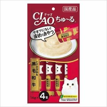 いなば CIAO(チャオ) ちゅ~る とりささみ&黒毛和牛 14g×4本【ちゅーる】