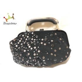 ディーゼル DIESEL ハンドバッグ 黒×シルバー ミニ/スタッズ スエード×金属素材 新着 20190523
