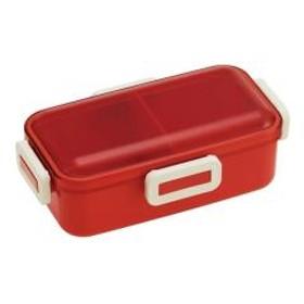 お弁当箱 レトロフレンチカラー ふわっと弁当箱 1段 530ml オレンジレッド