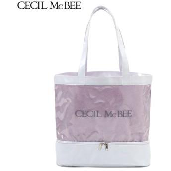 CECIL McBEE セシルマクビー 無地二重底 ウスムラサキ 女児ガールズビーチバック 海水小物 N119-944