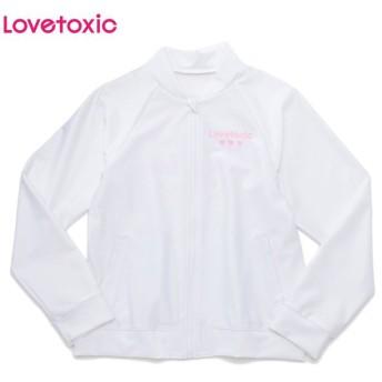 Lovetoxic ラブトキシック ブルゾンラッシュガード シロ 女児服飾 ガールズラッシュガード 海水小物 N119-970